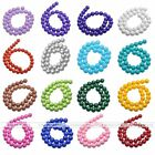 HOT 4-12mm Opaque Coated Glass Round Ball Loose Bead Findings Jewelry DIY Gift