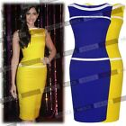 Sleeveless Evening Party Pencil Bodycon Fitted Contrast Sheath Dresses Size12468