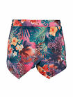 New Womens Ladies Purple and Pink Tropical Print Skort Sizes 8-14