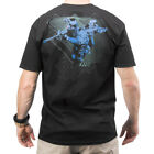 5.11 TACTICAL RED SCOPE LOGO MILITARY MENS T-SHIRT GRAPHIC TOP COTTON TEE BLACK