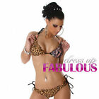 NEW SEXY SIZE 8-10-12 WOMEN'S BIKINI SET SWIMWEAR HOT BATHERS BEACHWEAR LEOPARD