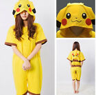 Anime Summer Short Pikachu Onesie Cosplay Costume Kigurumi Pajamas Sleepwear