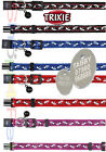 Nylon Cat Collar TRIXIE Snap Away With or Without a ENGRAVED PET ID TAG / Tags