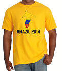 soccer Shirt BRASIL WORLD CUP 2014 BRAZIL Jersey football COLOMBIA supporter