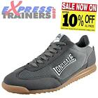 Lonsdale Mens Quinn Classic Casual Retro Trainers Grey * AUTHENTIC *