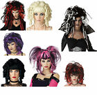 LADIES Halloween wigs Ghost Doll Sorceress Black Widow Bad Fairy Fancy dress Wig