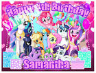 My Little Pony Birthday Edible Image Cake Topper Personalized Ice Frosting Sheet