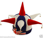 Adults Union Jack Jester Hat - 7 Points with Bells - National Fancy Dress