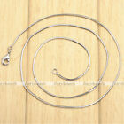 1pc Mens Womens White Gold Plated Silvery Snake Chain Necklace DIY Jewelry Gift