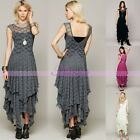 Hot Lady Bohemian Style Gypsy Festival French Sheer Lace Long Slip Wedding Dress