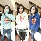 Popular Womens Superman Outwear Hoodie Hoody Coat Lady Casual Tops Pullover - CB
