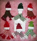Hat & Scarf Set Wine Bottle Accessory Topper New CHOICE winter gift wrap crafts