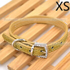 Dog Cat Puppy Collars Crystal Dianond Bright PU Leather Pet Collar Buckle Shiny