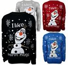 CHILDRENS KIDS BOYS GIRLS FROZEN OLAF WARM HUGS CHRISTMAS JUMPER  3-13 YEARS