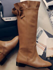 Stylish New Women Real Leather Low Heel Roung Toe Flower Mid Calf Boots Winter
