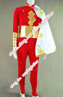 Captain Marvel Shazam Cosplay Costume Red Jumpsuit Outfits Uniform High Quality