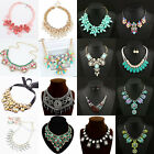 Charm Chain Crystal Choker Chunky Statement Bib Necklace Wild party Gift