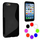 Gel Case S Line Cover Skin Silicone For iPhone 6 Plus 5.5 + Screen Guard