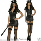 CL200 Fever Sexy Cop Police Black Uniform Party Fancy Dress Costume Outfit + Hat
