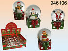 Christmas Glitter Snow Globe - Decoration - Santa Reindeer Snowman - New