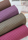 3mm Check 100% Cotton Fabric BY HALF YARD Purple Green Red Brown Checked JC9/67+