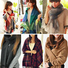 Winter Women's Lady Neck Warm Tartan Check Shawl Scarf Wrap Stole Plaid Pashmina