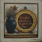 "MARY313 Greatest Treasures June 12""x12"" framed or unframed art print folk"