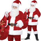 CL216 Deluxe Santa Suit Christmas Xmas Clause Mens Fancy Complete Costume