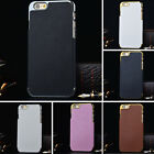 New Pu Leather Chrome Hard Back Case CoverSkin For iPhone 6 4.7 Plus 5.5