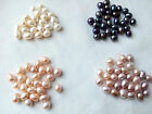 oval teardrop genuine natural freshwater pearl top half drilled hole loose beads