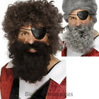 W291 Deluxe Brown or Grey Pirates Beard Tash Costume Accessory