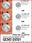 VVS AAA RBC CZ Cubic Zirconia White Round More Fire 7MM 6mm 5MM Inclusions Gem