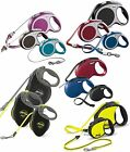 FLEXI TAPE & CORD RETRACTABLE DOG LEADS, Full Range, up to 75kg & up to 10m