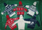 2 pc knit Sweater w/ Matching Hat wine bottle cover Winter Christmas CHOICE new