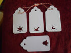 15 WHITE LARGE NAME PLACE GIFT TAGS LABELS CARDS CHRISTMAS  WISHING TREE + TWINE