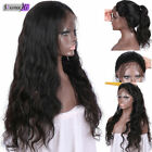Body Wavy 100% Brizilian Remy human hair full/front lace wig with 160% density