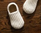 Crochet big boys - men loafers with buttons, winter,boy shoes, men slippers