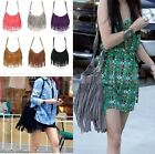 FD1451 Women Celebrity Tassel Suede Fringe Shoulder Messenger Handbag Cross Bag