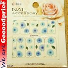Color Printing Water Tranfer Nail Art Stickers Gift Blue Sun Flower Style 6-37