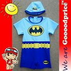 Baby Child Bathing Swimwear One-Piece With Cap Batman Costume Style w/Size Chart