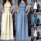 New Women Formal Bridesmaid Dress Women Evening Party Prom Ball Gowns Size 6-16