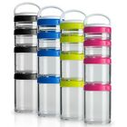 Blender Bottle GoStak Portable Stackable Containers Starter 1 SET = 4Pak Sundesa