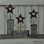 "KT1242 Live Laugh Love Karen Tribett 10""x10"" framed or unframed print art"
