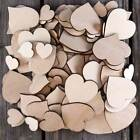 Over 100 Small Wooden Plain Heart Craft Shape 3mm Plywood 2-4cm Size