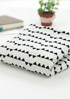 BY HALF YARD Black Triangles 100% Cotton Fabric Scandinavian quilting JC4/68+