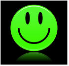 SMILEY GREEN  - SET OF NOVELTY FUN COASTERS - SETS OF 4, 6 OR 8 - GIFT