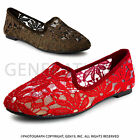 Brand New Womens Crochet Fashion Slip-on Ballet Flat Shoes