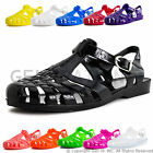 Brand New Women Retro Jelly Buckle Closure Strape Sandal Flats