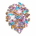 Elegant Rhinestone Crystals Flower Brooch Broach Pin Pendant 8 Color 3905