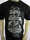 Death Before Dishonor knife skull USMC Military shirt men's black Choose A Size